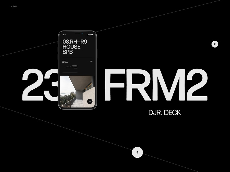 CTMK mobile branding logo behance typo design typography flat ui minimal