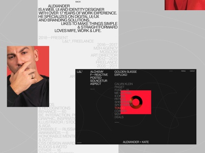 L&L® design typo typography flat desktop website web ux ui minimal