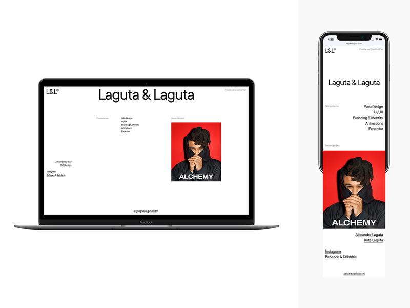 Laguta & Laguta design typography minimal mobile flat desktop website web ux ui