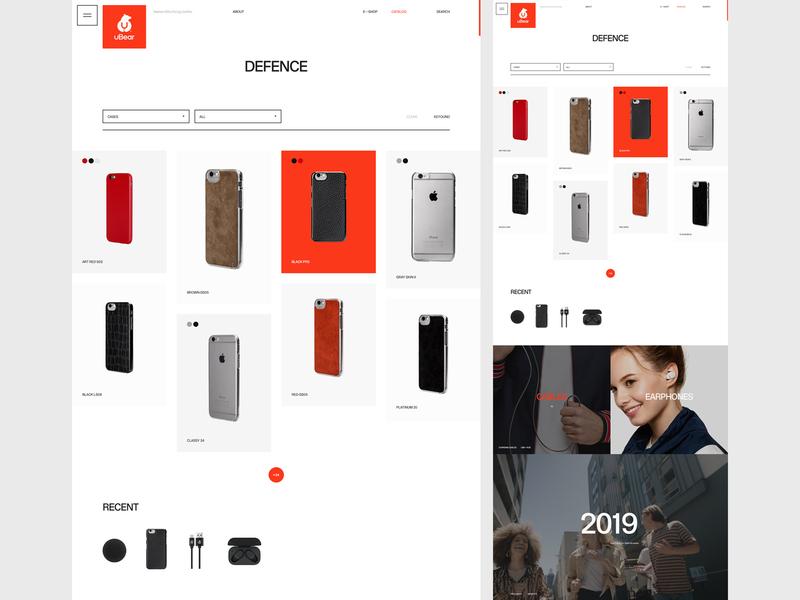 uBear catalog eshop minimal typography flat desktop website web ux ui