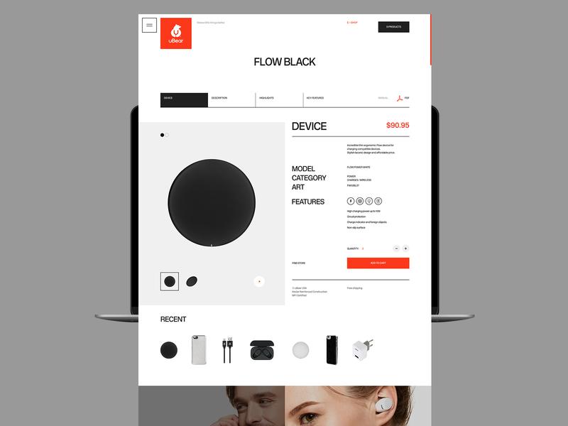 uBear promo typography minimal design desktop flat website web ux ui