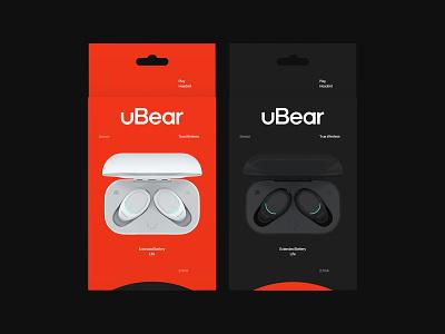 uBear / Package minimal packaging package identity branding logo design typography flat illustration