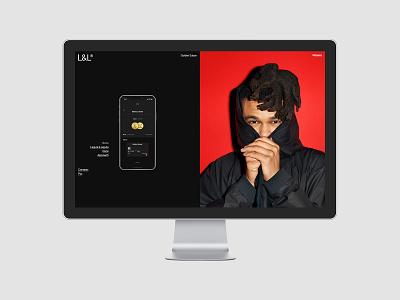 Laguta & Laguta portfolio typo fullscreen design typography desktop website web ux ui