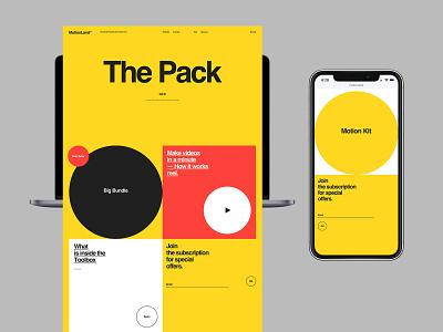 MotionLand promo design typography desktop flat website web ux ui minimal