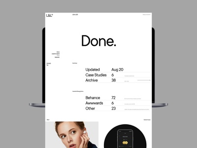 Laguta & Laguta portfolio design typography desktop flat website web ux ui minimal
