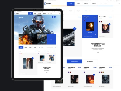 Keyback promo desktop grid catalog flat minimal website web ux ui