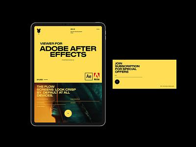 AE Viewer branding design minimal desktop typography flat website ui web ux