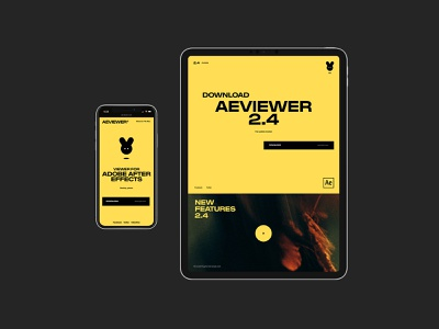 AE Viewer design mobile desktop minimal typography flat website web ux ui