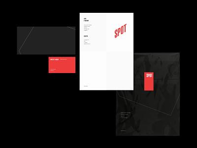 Spot vector logo design package envelope card blank office identity branding