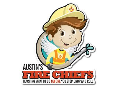Austin's Fire Chiefs Logo logo branding design illustration
