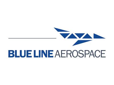 Blue Line Aerospace Logo vector design branding logo