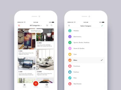 Sale & Buy Nearby App UI