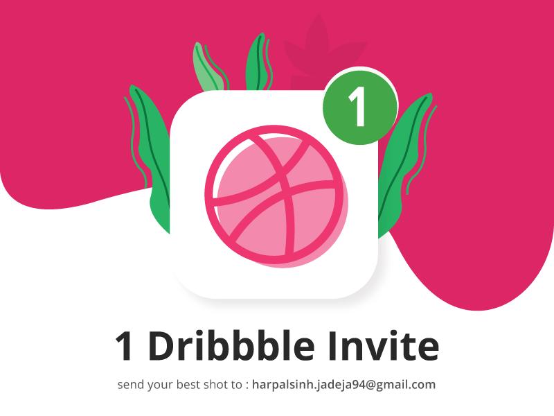 1 Dribbble Invite draft illustration giveway invite dribbble
