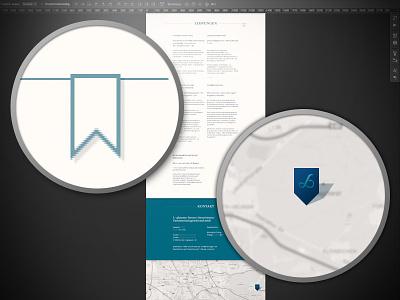 Webdesign details flag landmark marker geo marker goolge maps flat design book mark
