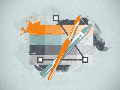 Webdesign Graphic Illustration webdesign collage pen brush color codes hexa aquarell water color vector anchor points