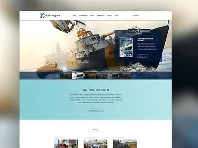 Redesign astragon Entertainment website games specialist simulation