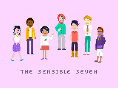 The Sensible Seven video game pixels 8bit