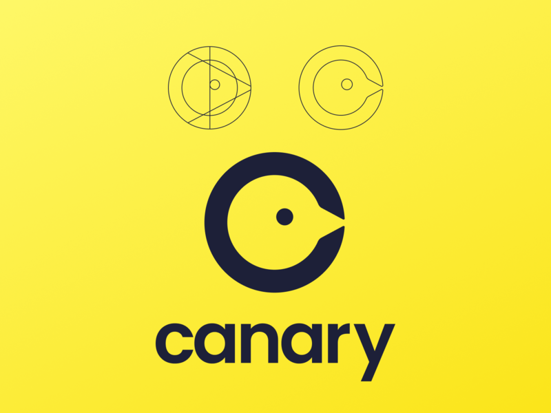 Canary Agency - Logo illustration design figma logodesign brand logo canary