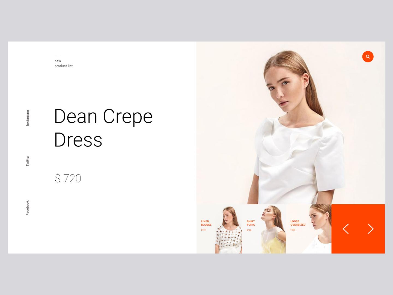 Mondrian fashion web ux ui e-commerce fashion mondrian
