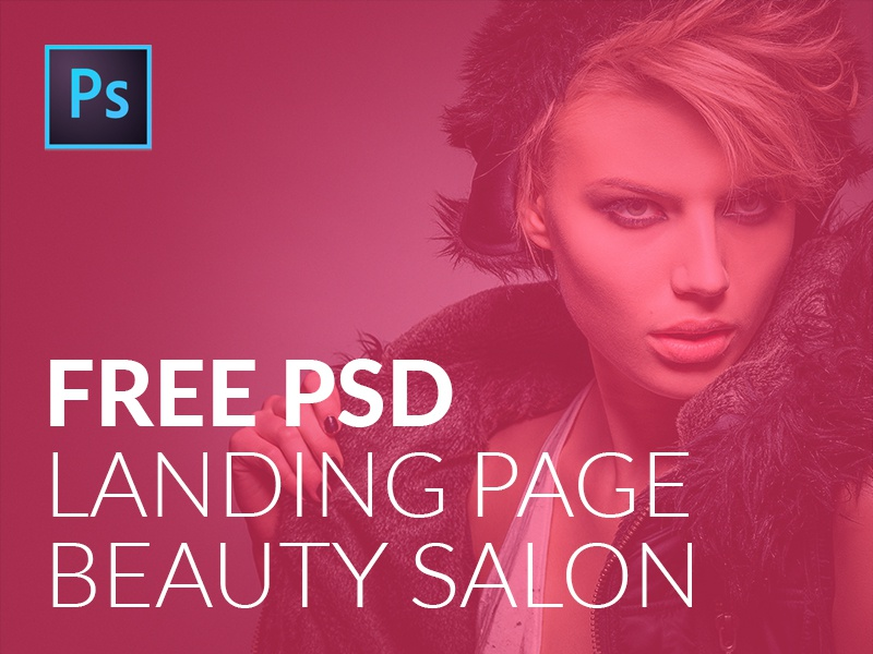 free psd landing page template for beauty salons by nick velichkin