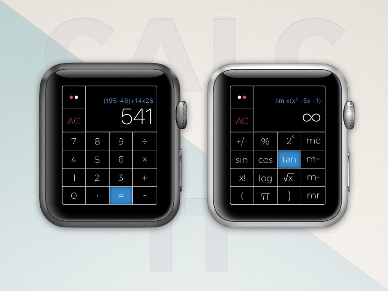 Calc It #004 app apple watch calculator watch calc ui ux sketch dailyui challenge camp 04