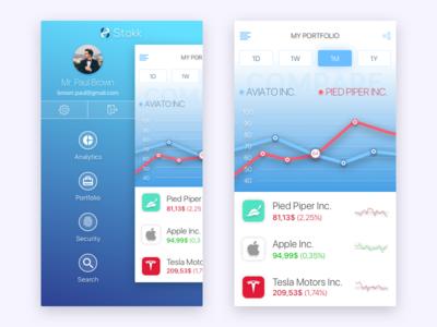 Analytics chart graph ux ui ios app stocks dailyui challenge pied piper analytics chart chart 18