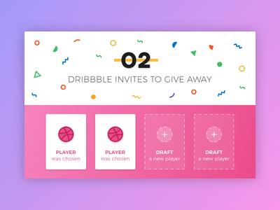 2 Dribbble Invites to give away invites giveaway dribbble invite dribbble invite