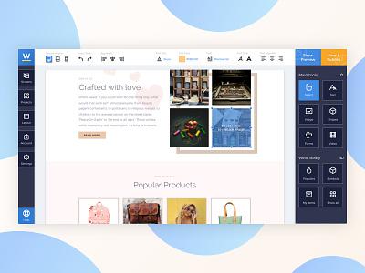 Website Builder webdesign desktop tool interface builder sidebar drag and drop app