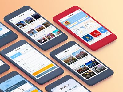 Letuska IOS App search destinations travel cards letuska sell ticket flight app