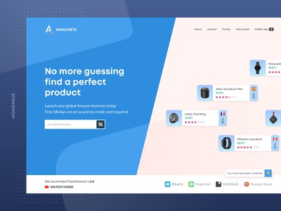Landing Page Header WIP ios center notification sales mobile fba e-commerce app amazon wip