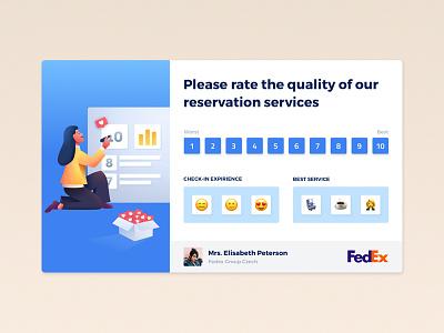 Feedback Form (NPS) flight reservation ticket airline illustration rate form feedback nps