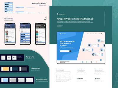 Amachete - Behance Case Study style guide e-commerce fba case-study case study behance merchant seller amazon