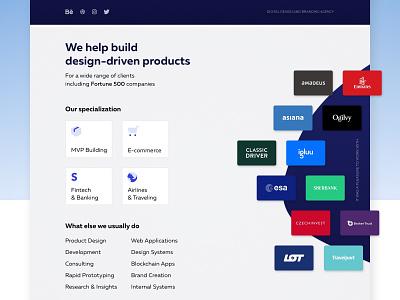 Materio - New Website landing ui case header materio studio agency website