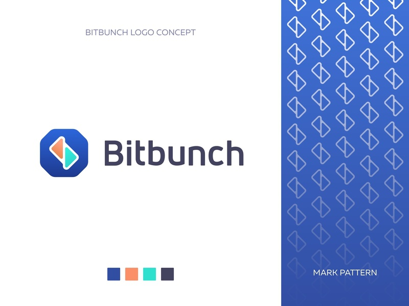 Bitbunch - Logo grid pattern concept trading crypto trading crypto branding logo