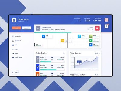 Bitbunch - Dashboard crypto trading crypto currency user account searching etherium dashboard crypto trading