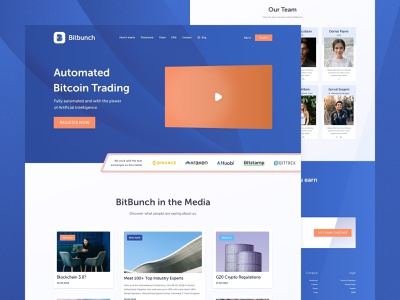 Bitbunch - Landing Page crypto exchange exchange header fintech crypto bitcoin trading website homepage landing