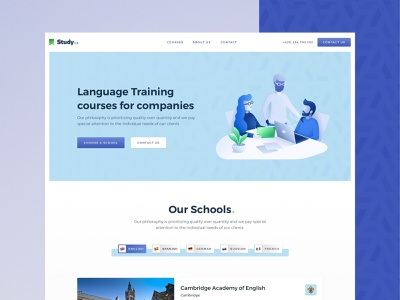 Study | Landing Page website header landing travel learning course study
