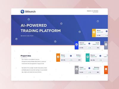 Bitbunch | Behance Case Study fintech branding landing ico crypto trading bitcoin crypto behance case study case