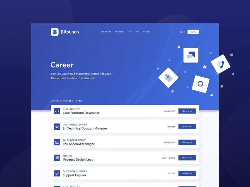 Bitbunch | Career trading dark floating fintech job positions career bitbunch crypto bitcoin