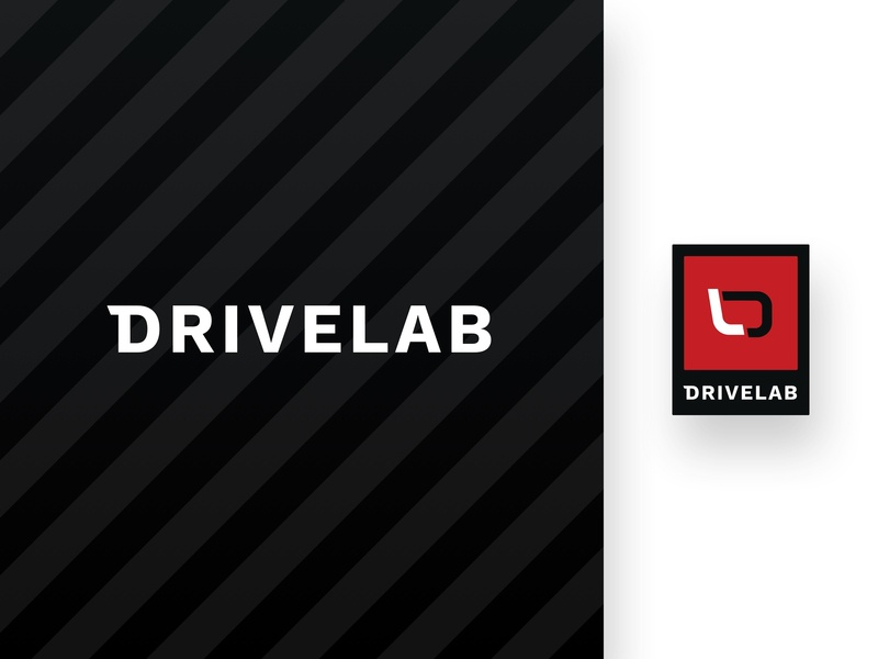Drivelab | Logo shop logo design black and red automative service drive car racecar motorsport race racing logomark logotype logo