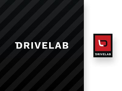 Drivelab | Logo shop logo design black and red automative service drive car racecar motorsport race racing logomark logotype logo