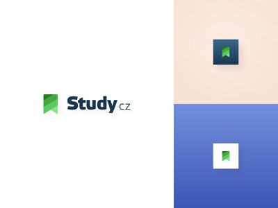 Study.cz | Logo logotype design logo design courses learning before and after redesign branding logomark logotype study.cz study logo