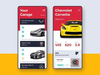 Drivelab | Mobile App wip jaguar corvette mobile app maintance car booking car care service automative garage car