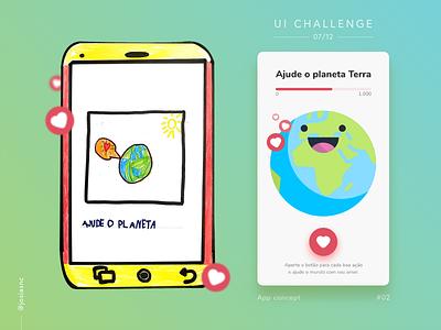 #02 UI Challenge - Earth Wellness illustration adobexd wellness earth children app mobile ui uichallenge