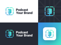 Podcast Your Brand - Logo Design Concept