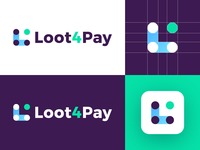 Loot4Pay - Logo Design Concept media tech digital app icon lettermark wordmark lettering buttons joystick pay loot l letter logo corporate tech gradient symbol logotype identity logo design logo designer branding logo