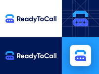 ReadyToCall - Logo Design Concept platform voice lettermark text message smart design media tech digital marketing ready message phone call r letter logo letter corporate symbol logotype identity logo design logo designer branding logo
