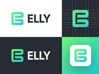 Elly - Logo Design Concept negative space logo smart design brand identity brand design media tech digital gradient for sale unused buy app icon e letter logo design corporate icon symbol logotype identity logo design logo designer branding logo for sale