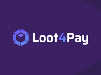 Loot4Pay - Logo Design Exploration brand guides identity design brand identity virtual light rays shine hire me deal buyer seller marketplace game items smart design media tech digital corporate identity logotype box design pay payment escrow box loot logo design logo designer branding logo
