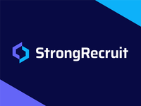 StrongRecruit - Logo Design Exploration brand design job position smart logo negative space logo identity design brand identity logo grid strong bold solid hr rectruit media digital tech s letter logo symbol logotype identity logo designer logo design branding logo